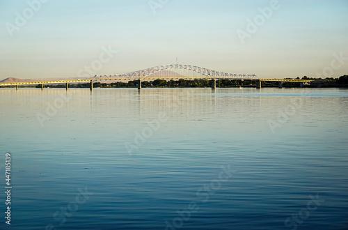 Bridge over Columbia river in Tri-Cities Washington State #447185139