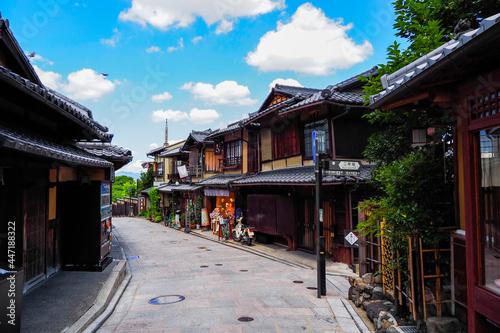 京都の街並み 通り Fototapet