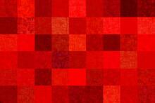 赤い方眼の布テクスチャー