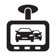 Drive Recorder, Dvr Icon Vector Car Dash Cam Sign For Graphic Design, Logo, Web Site, Social Media, Mobile App, Ui Illustration