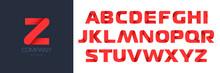 Bold Font Set Of Red Letters. Business Logo Design Template. Vector Illustration