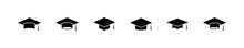 Mortar Cap, Graduate Hat Icon. Student University Grad. Academy Graduation Head Board.