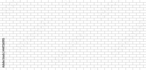 Leinwand Poster White brick wall
