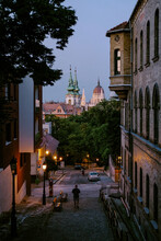 Budapest Skyline And Stairs At Twilight