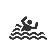 Swimmer Icon Isolated On White Background. Beach Symbol Modern, Simple, Vector, Icon For Website Design, Mobile App, Ui. Vector Illustration