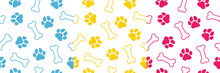 Seamless Vector  Pattern With Hand Drawn Water Colour Animal Footprints. Elegant Template For Fashion Prints.