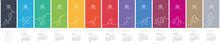 2022 New Year Calendar Week Starts Monday Verticaline Font Vector Colorful Landscape Background
