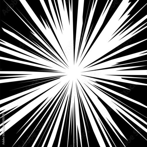 Fotografie, Obraz White Explode Flash, Cartoon Explosion, Star Burst