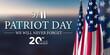 Leinwandbild Motiv Patriot Day, 9/11