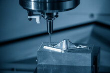 The Hi-precision Mold And Die Manufacturing Concept By Machining Center.