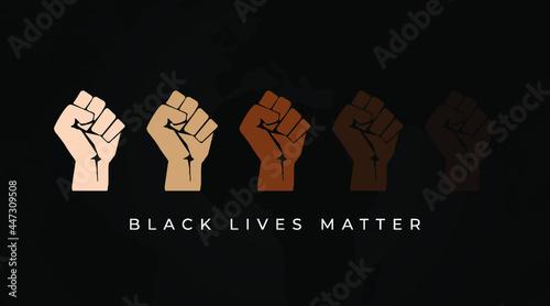 Fotografering Black Lives matter modern creative minimalist banner, sign, design concept, soci