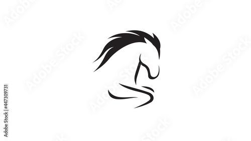 Fotografie, Obraz creative gallop horse logo