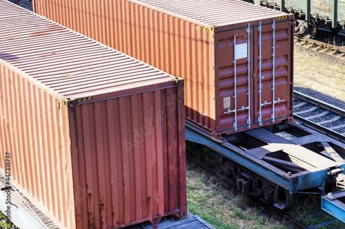 Fototapeta Railway transport