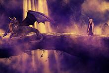 Fantasy - Sorceress And Dragon