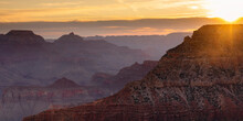 View From South Rim At Sunrise, Grand Canyon National Park, UNESCO World Heritage Site, Arizona