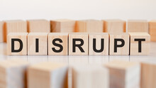 Disrupt Word Made With Building Blocks, Concept