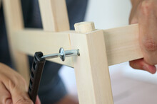 Assembly Wooden Furniture At Home Using Screw Allen