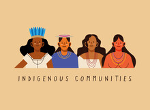 Indigenous Communities Women With Traditional Cloth