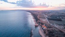 Aerial View At Sunset Of Torre Mozza In Summer Season, Tuscany - Italy