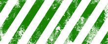 Green Stripes On White