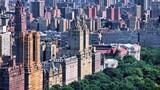 Fototapeta Nowy Jork - Upper West Side NY - New York City aerial view