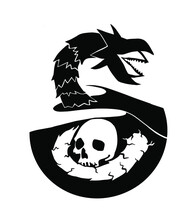 Sand Worm Dune Skull Illustration For Vinyl Cutting Printing And Stuff