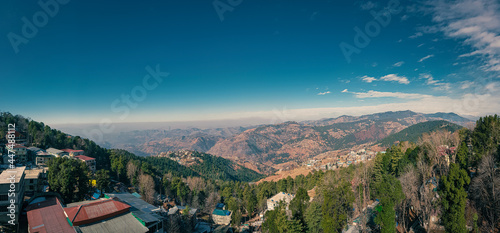 Fotografie, Tablou Murree, Punjab, Pakistan - August, 24, 2019: A view from the balcony of Deans Hotel, Murree, Mall Road