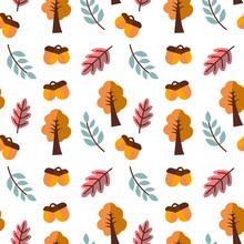 Autumn Theme Seamless Vector Background