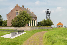 Light Keepers House On The Former Island Of Schokland In The Zuiderzee.
