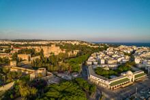 Mandraki With Grand Magister Palace And New Market On Rhodes Island
