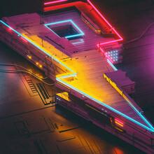 Neon Power Circuit Sign Future Electronics Construction