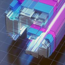 Glowing High Speed Metallic Glass Grid Layers