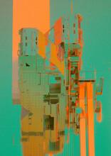 Grunge Grid Tech Construction Vintage Visualization Collage
