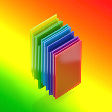 Stacked Rainbow Plastic Sheets Or Inclusive Collaboration Layers