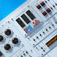 Distressed Dashboard Editing Interface Module Board Close Up