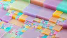 Pastel Grid Blocks Building Complexity