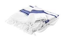 Tallit Isolated On White. Garment For Rosh Hashanah Celebration