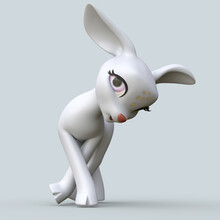 3D Rendering Of An Isolated Funny Cartoon Deer
