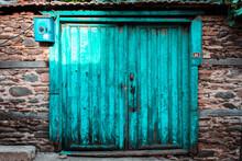 Old Wooden Door In Odemis Izmir