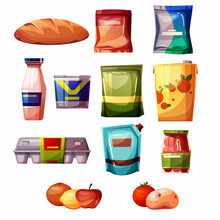 Grocery Products Supermarket Vector Illustration
