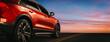 Leinwandbild Motiv automotive red