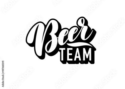 Fotografering simple black and white lettering beer team logo