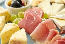 Prosciutto And Cheese On A Plate