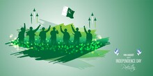 Vector Illustration For Pakistan Independence Day-14 August
