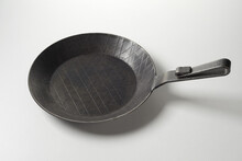 Retro Metal Frying Pan With Ornament