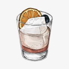 Hand Drawn Lemonade With Ice