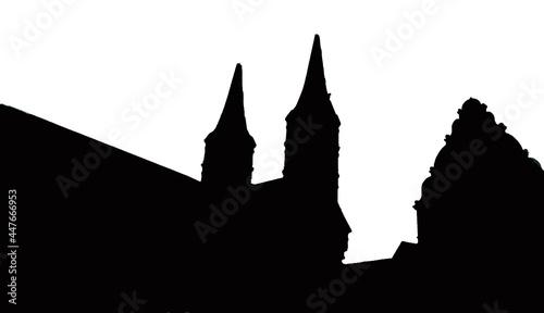 Canvas Print Silhouette Dom Bamberg