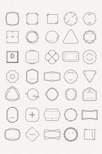 Blank Minimal Badge Design Vector Set