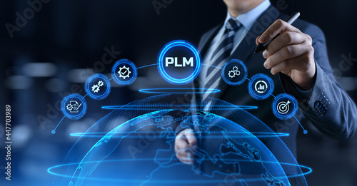 Stampa su Tela Project lifecycle management software system technology concept.
