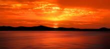 Raja Ampat Archipelago At Sunset, Indonesia